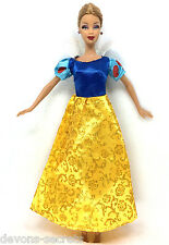SNOW WHITE girls toy doll BARBIE dress party dresses costume outfit set BC18