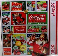 FACTORY SEALED SPRINGBOK SANTA'S COCA-COLA CHRISTMAS 1500 PIECE JIGSAW PUZZLE WO