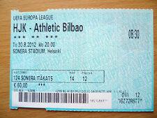 UEFA EUROPA LEAGUE TICKET- HJK v ATHLETIC BILBAO, 30 August, 2012