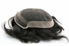Mens French Lace 100% Natural Hair Toupee