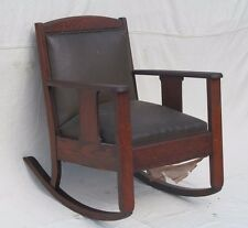 ARTS & CRAFTS MISSION OAK ROCKING CHAIR - PULLMAN TRAIN CO.