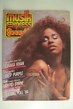 SOUNDS / MUSIKEXPRESS 2/1985 CHAKA KHAN - DEEP PURPLE - AF490