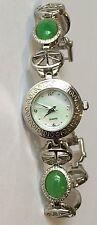Avon Oriental Asian Faux Jade MOP Watch