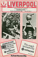 Liverpool v Swindon Town - League Cup - 23/9/1980 - Football Programme