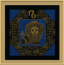 Zodiac Sign Leo Cross Stitch Kit - Riolis - (R1205) - 25cm x 25cm
