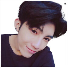Men's Korean Handsome Vogue Black Short Hair Cosplay Party Hair Wig Full Wigs