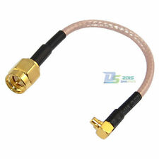 SMA Male to MMCX Right Angle Male Plug RF Coaxial Extender Wireless Cable 0.1m