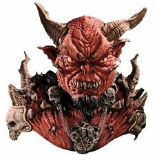 Halloween LifeSize EL DIABLO WITH HORNS DEVIL LATEX DELUXE MASK & SHOULDERS NEW