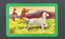 Playing Swap Cards 1 GENUINE VINT   AUST  HUNTING  DOG  GENTS  GUNS  #260