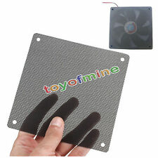 10PCS Cuttable Black PVC PC Fan Dust Filter Dustproof Case Computer Mesh 120mm