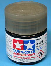 Tamiya GLOSS CLEAR SMOKE  Acrylic Hobby Model Paint Acrylic X19  23ml 81019 X-19