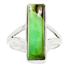 Chrysoprase 925 Sterling Silver Ring Jewelry s.8 RR30680