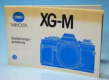 Minolta XG-M Bedienungsanleitung manual mode d'emploi - (81801)