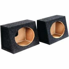 """2  Atrend 6X9PR 6"""" x 9"""" Speaker Boxes  Angled Enclosures MDF Constructed  New"""