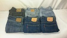 LOT of 6 Mens Designer Blue Jeans Levis American Eagle Banana Republic 34 x 30