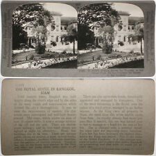 Keystone Stereoview of the Royal Hotel in Bangkok, SIAM From RARE 1200 Card Set