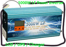 "20000W/5000W LF Pure Sine Wave 24V DC/230V AC Power Inverter 3.5""LCD/UPS/Charger"