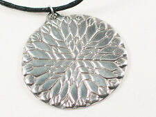 Flower of Light Mandala,  handcast spiritual pewter pendant, Love & Light