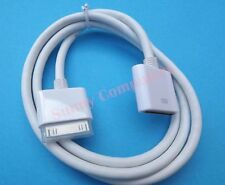 Premium Quality 30Pin Dock Extension Cable Cord for iPhone iPad iPod Audio Video