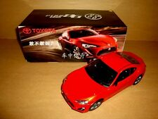 1/18 china 2013 TOYOTA GT86 model orange-red color + gift
