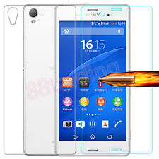 FRONT + BACK Tempered Glass Screen Protector for Sony Xperia Z4 / Z3+ / Z3 Plus