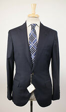 New BRUNELLO CUCINELLI Oxford Blue Plaid Wool 3/2 Button Suit Size 46/36 R $4590