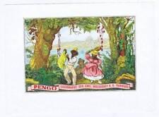 Pengo, inner cigar box label, Hamburg, German, man and woman dancing