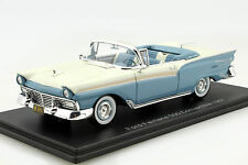 Ford Fairlane 500 Convertible Year Of Construction 1957 light blue/weiß 1:43 Neo