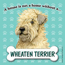 Soft Coated Wheaten Dog Magnet Sign House Is Not A Home