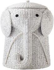 New Laundry Hamper White Elephant Animal Clothes Basket, laundry, toys or crafts