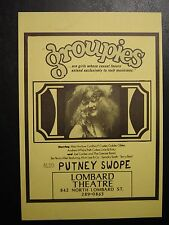 GROUPIES & PUTNEY SWOPES Portland Movie Handbill 1970/71 NEAR MINT Very Rare 8x5