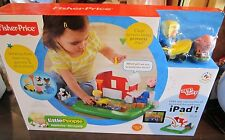 Fisher-Price Little People Apptivity Barnyard Interactive Ipad play set NEW Toy