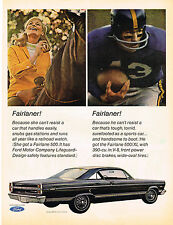 Vintage 1966 Magazine Ad Ford Fairlane 500 For Her & Fairlane 500/XL For Him