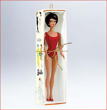 2011 Hallmark BARBIE Ornament BRUNETTE BUBBLE CUT 1962 Swimsuit Barbie *Priority
