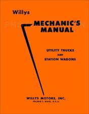 Willys Jeep Pickup Wagon Repair Shop Manual 1949 1950 1951 1952 1953 1954 1955