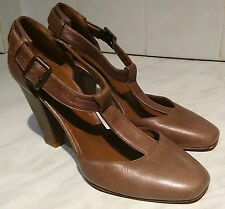 "HOBBS~LONDON~BROWN~UK 5~EU~38~GENUINE LEATHER~SHOES~3~1/2"" HEELS~MADE IN ITALY"
