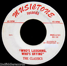 THE CLASSICS-Too Young-Rarer Doo Wop-Northern Soul 45-MUSICTONE #MUS 6131