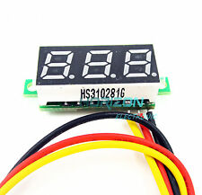 "5pcs PCS 0.28"" LED DC  0-100V Digital Voltmeter Panel Meter Green COLOR"