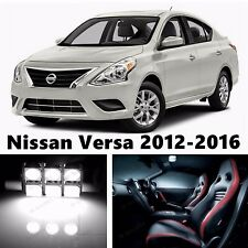 9pcs LED Xenon White Light Interior Package Kit for Nissan Versa 2012-2016
