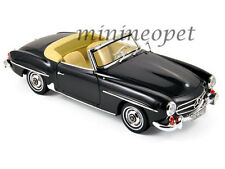 NOREV 183538 1957 57 MERCEDES BENZ 190 SL 1/18 DIECAST MODEL CAR BLACK