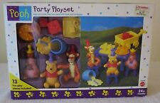Disney New Winnie the Pooh Party Play Set  ~13  Fun Play Pieces~Arco Toys/Mattel