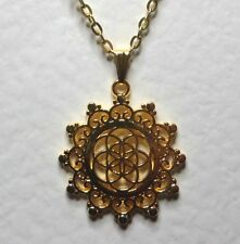 FLOWER OF LIFE FILIGREE GOLD PLATED PENDANT AND CHAIN - MYSTIC MYSTERY