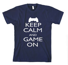 KEEP CALM AND GAME ON Unisex Adult T-Shirt Tee Top