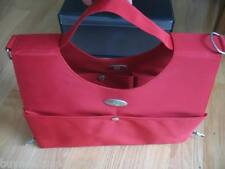 Tupperware Red Saddle Bag Consultant Award Vinyl to Endure Travel Pockets + NEW!