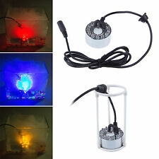 New 12 LED Ultrasonic Mist Maker Mister Fogger Fog Water Fountain Pond Aquarium