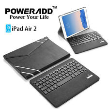 For Apple iPad Air 2 Bluetooth Wireless Keyboard with Leather Case Cover Stand