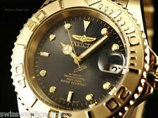 Invicta Men Coin Edged PRO DIVER Auto NH35A 18K GIP Dark Shark Gray Dial Watch