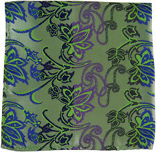 New Milani Men's Poly Woven Pocket Square Hankie Only Floral Blue Purple Navy