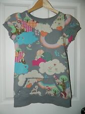 LOYAL ARMY CLOTHING Colorful FANTASY DEER FOREST Print TOP* S Small