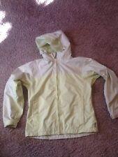 Columbia Windbreaker Rain Jacket Packable ~ Women's M ~ Lime Green ~ Hooded